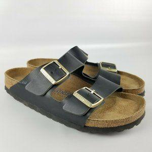 Birkenstock Arizona Sandal Black Leather 39 Narrow